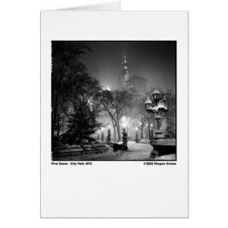 First Snow - City Hall, NYC Card