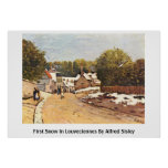 First Snow In Louveciennes By Alfred Sisley Poster