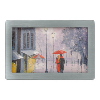 First snow in Paris Belt Buckles