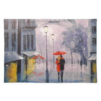 First snow in Paris Placemat