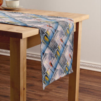 First snow in Paris Short Table Runner