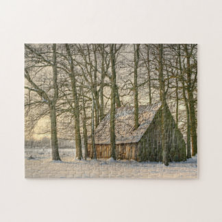 First Snow Of Winter Jigsaw Puzzle