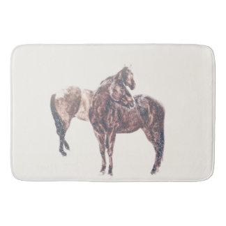 First Snow Patina Bath Mat Western Horse
