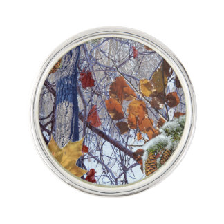 First Snow Winter Camouflage Decor Lapel Pin