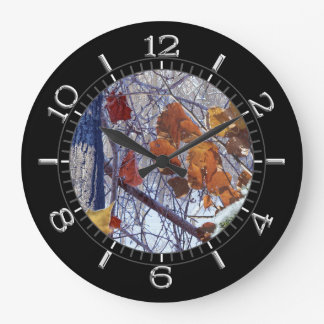 First Snow Winter Camouflage Style Dial Large Clock