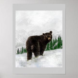 First Snowfall Black Bear Mountain Wilderness Poster