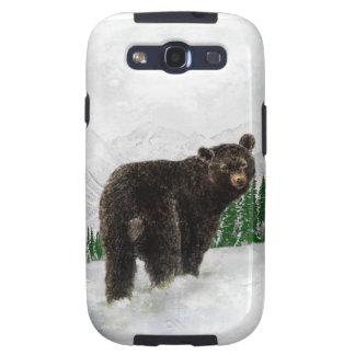 First Snowfall Black Bear Mountain Wilderness Samsung Galaxy SIII Cover