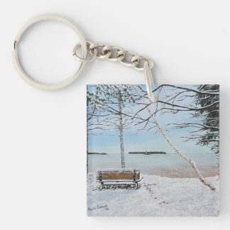 First SnowFall Keychain