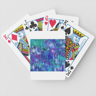 First snowflakes of winter bicycle playing cards