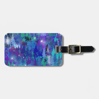 First snowflakes of winter luggage tag