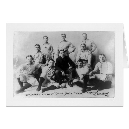 First Softball Team 1897 Card