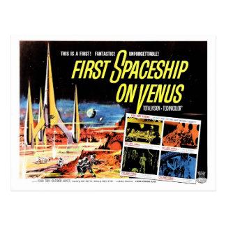"""First Spaceship on Venus"" Postcard"