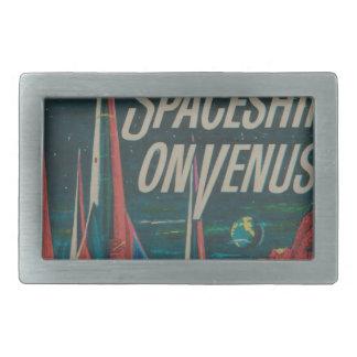 First Spaceship on Venus Vintage Scifi Film Belt Buckles