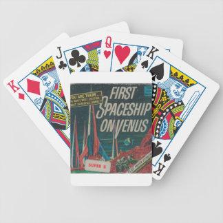 First Spaceship on Venus Vintage Scifi Film Bicycle Playing Cards