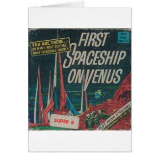 First Spaceship on Venus Vintage Scifi Film Card