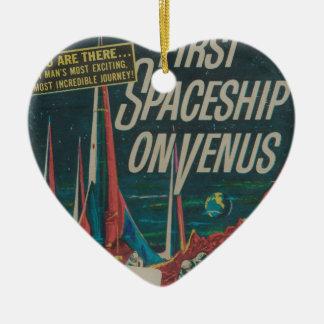 First Spaceship on Venus Vintage Scifi Film Ceramic Ornament