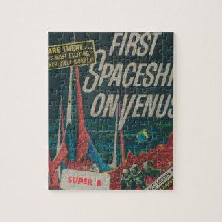 First Spaceship on Venus Vintage Scifi Film Jigsaw Puzzle