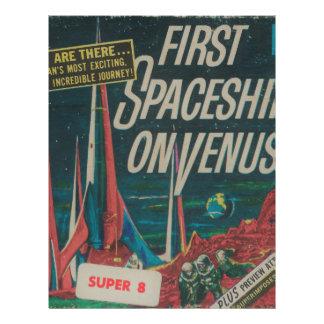 First Spaceship on Venus Vintage Scifi Film Letterhead
