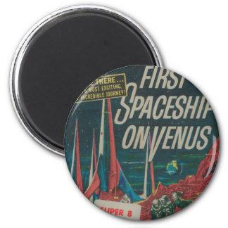 First Spaceship on Venus Vintage Scifi Film Magnet