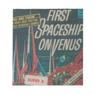 First Spaceship on Venus Vintage Scifi Film Notepad