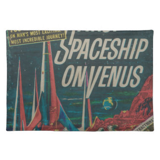 First Spaceship on Venus Vintage Scifi Film Placemat
