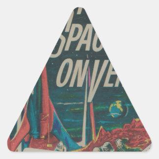 First Spaceship on Venus Vintage Scifi Film Triangle Sticker
