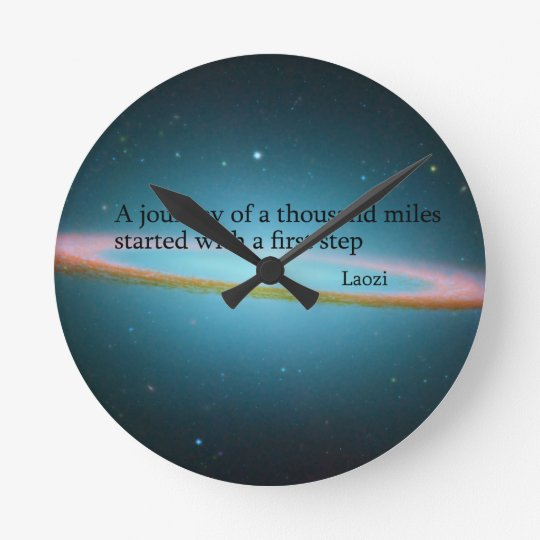 First Step Laozi Quote Clock
