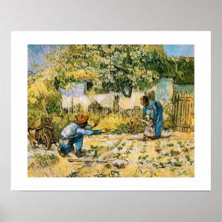 """First steps"" by Vincent Van Gogh Fine Art Print"