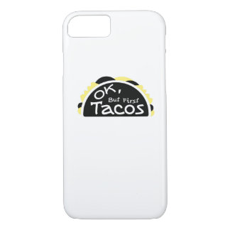 First Taco  Funny Fitness Workout Gym iPhone 8/7 Case