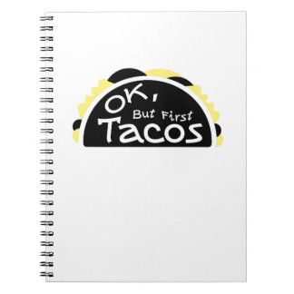 First Taco  Funny Fitness Workout Gym Spiral Notebook
