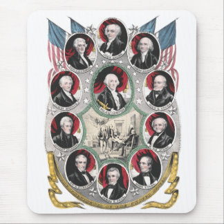First Ten Presidents of the United States Mouse Pad