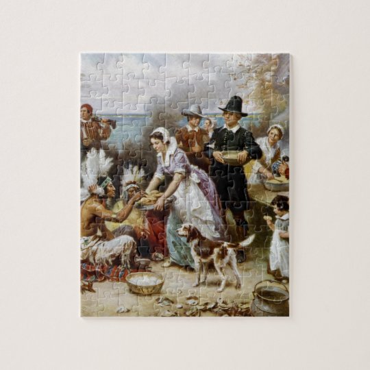 First Thanksgiving Jigsaw Puzzle