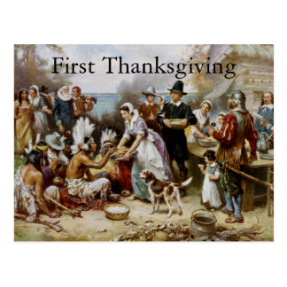 First Thanksgiving Postcard