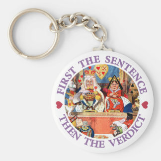 FIRST THE SENTENCE, THEN THE VERDICT KEYCHAIN
