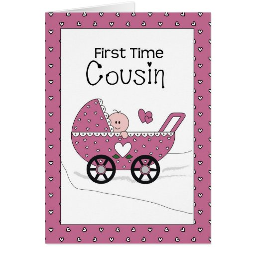 First Time Girl Cousin, Pink Cards