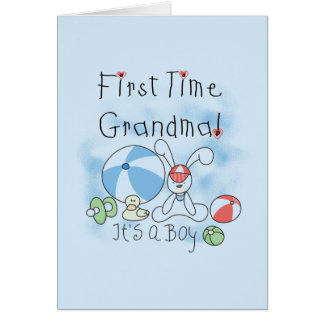 First Time Grandma of Boy Tshirts and Gifts Card