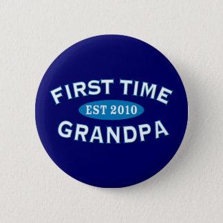 First Time Grandpa 2 Inch Round Button