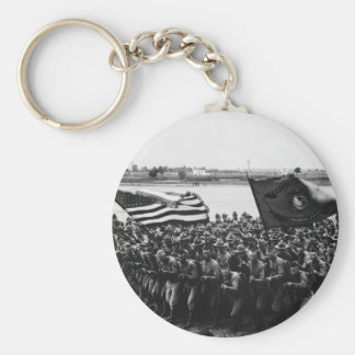 First to Fight A group of World War I Marines Basic Round Button Keychain