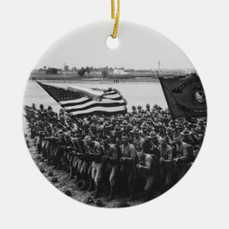First to Fight United States Marine Corps 1918 Ceramic Ornament