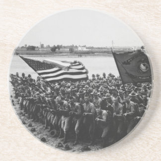 First to Fight United States Marine Corps 1918 Coaster