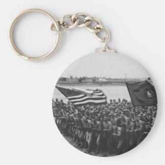 First to Fight - US Marines - 1918 Basic Round Button Keychain
