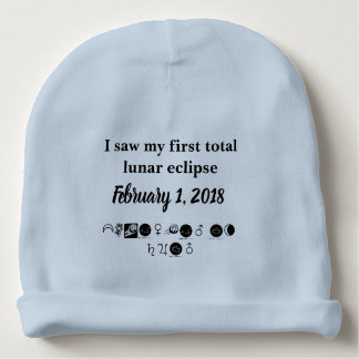 first total lunar eclipse, blood moon, supermoon baby beanie