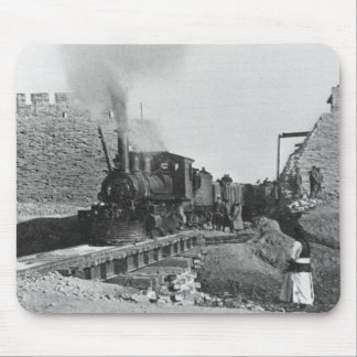 First train passing through the wall of Peking, Ch Mouse Pad