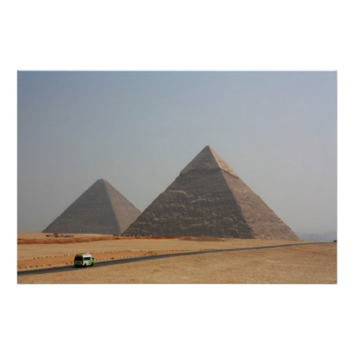 First Two Pyramids of Giza Poster