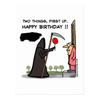 First Up, Happy Birthday !! Postcard