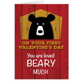 First Valentine's Day, Valentine Bear Wishes Card