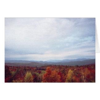 """First view, Bridgewater Mountain B&B"" Card"