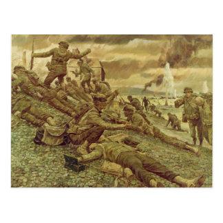 First Wave at Omaha by Ken Riley World War II Postcard