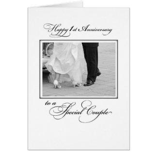 First Wedding Anniversary Congratulations Card