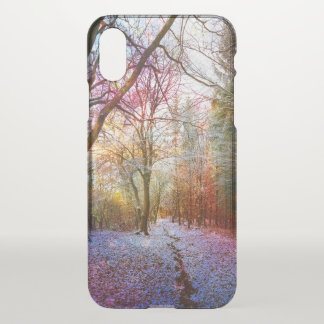 First Winter Enchanted Lights Wood Path iPhone X Case